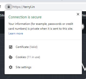 SSL 憑證資料