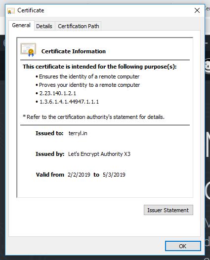 SSL 憑證細節